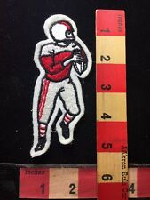 """5"""" Embroidered Felt FOOTBALL Player Patch RED & WHITE Jersey Version 73Y2"""