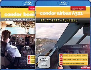 BLU-RAY DOPPELPACK: Condor Airbus A321 - Condor Boeing 767 - Cockpit-Flüge
