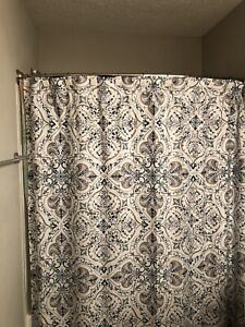 Shower Curtain and Hooks