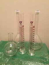 Bomex Scientific  Glass Graduated  Lab Cylinder 250ml & 1000 ml. Flasks