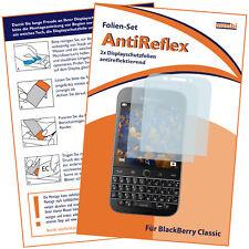 mumbi 2x Folie f. Blackberry Classic Schutzfolie Displayschutzfolie Display matt