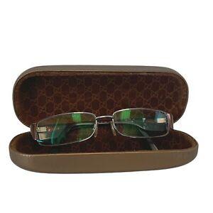 GUCCI Narrow Womens Narrow Silver Brown Frame Glasses Frames 13 X 3CM  - L48