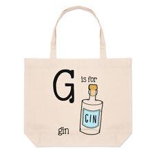 LETTERE G è per gin GRANDE BORSA CON MANICO da Spiaggia - divertente a sigaretta