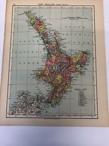Map 1935 New Zealand (North Island) New South Wales Victoria Part Of South Austr