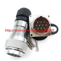 WS28 10Pin Waterproof Connector,Aviation Bulkhead Connector solder wire plug