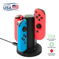 For Nintendo NS Switch Joy-Con Controller Charging Dock Stand Station LED 4 Port