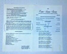 DON PERKINS DALLAS COWBOYS FULLBACK SIGNED CHURCH EASTER SERVICE 1969 PROGRAM