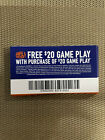22 Dave and Busters D&B $20 gameplay with same purchase powercard EXP 7/31/2022