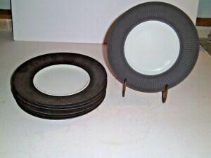 Dansk IHQ Designs Quistgaard Brown Flamestone 7 SALAD PLATES Denmark MCM UNUSED