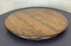 Vintage Antique Ice Cream Parlor Set Table Top Only Solid Oak Large 23.5 x 2