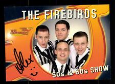 The Firebirds Autogrammkarte Original Signiert ## BC 60141