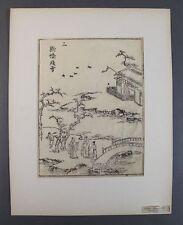 Ooka shunboku (1680-1763 Giappone) - ukiyo-e taglio di legno-PAESAGGIO AUTUNNO (18)