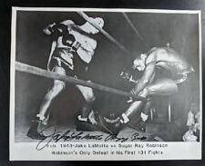Jake LaMotta Autographed Photograph Boxing JSA Signed Certified Authentic
