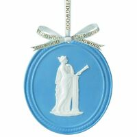WEDGWOOD BLUE JASPERWARE MUSE OVAL 2013 ANNUAL ORNAMENT NEW IN BOX (s)