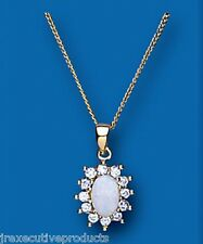 Opal Pendant Opal Necklace Opal Cluster Yellow Gold Opal Pendant