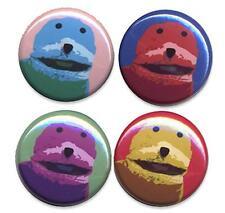 FLAT ERIC  WARHOL Badges four Button Pin set  - COOL !