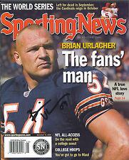 Brian Urlacher signed Chicago Bears 2006 Sporting News magazine