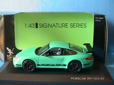PORSCHE 911 997 GT3 RS GREEN WITH BLACK STRIPES SIGNATURE SERIES YATMING 43204GN