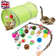 21 Funny Pet Tunnel Cat Play Kitten Stick Mouse Cats Stick Ball Toys Bulk Toy UK