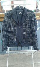 Ladies Barbara Lebek Smart Black / Grey  Jacket UK Size 12  vgc