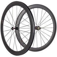 50mm Clincher Carbon Wheels 291 Hub Carbon Road Bike Cycling Touring Wheelset