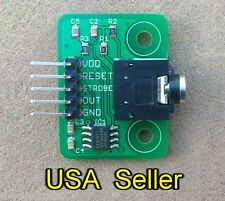 MSGEQ7 breakout board (7-band graphic equalizer for audio) for Arduino, RPi, PIC