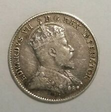 1910 Canada 5 Cents 5C World Silver Coin Free Shipping!