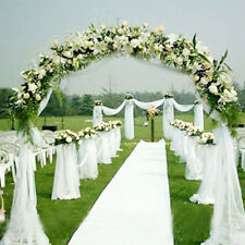 10M Top Table Chair Swags White Sheer Organza Fabric Wedding Party Decoration