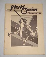 Cinematronics WORLD SERIES THE SEASON Arcade Video Game Original MANUAL 1985
