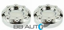 2005-2018 FORD F350 F-350 DUALLY FRONT 2WD CHROME WHEEL CENTER HUB CAPS PAIR NEW