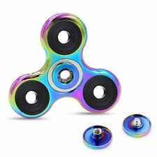 Rainbow Brass Tri-Spinner EDC Fidget Spinner Focus Toy Gyro Fingertip High Speed