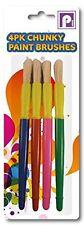Pennine Grueso Cepillos de pintura, Multi-color, de 4 Piezas-Escuela Arte Arte Artista