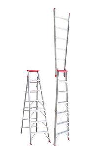 INDALEX Tradesman Aluminium Dual Purpose Ladder 1.8m - 3.2m