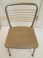 Vintage MCM COSCO Fashionfold Folding Metal Steel Patio Kitchen Chair RV Trailer
