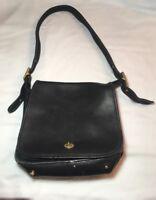 Vintage Coach 9525 Black Leather Stewardess Shoulder Bag