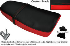 BLACK & RED CUSTOM FITS YAMAHA SRX 600 DUAL LEATHER SEAT COVER ONLY