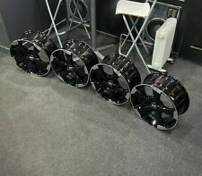 """Ex Display 18"""" Audi RS3 Rotor Style Alloy Wheels Gloss Black - Audi A3 + more"""