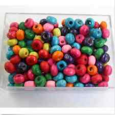Free 1000Pcs Mixed Color Wood Beads Spacers Charms Jewelry Making Findings 3x4mm