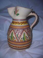 Pottery Sangria pitcher Spain,signed ,hand work,Unique decorations