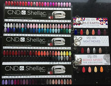 CND SHELLAC Salon NAIL TIP COLOUR CHART PALETTES, Boho, Night Moves & Wild Earth