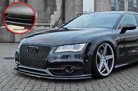 Spoilerschwert Frontspoiler Lippe ABS  Audi A7 S7 S-Line ABE schwarz glänzend