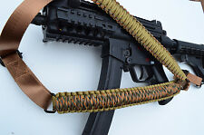Tactical 550 Paracord Rifle Gun Sling Single Point Quick Detach PUMPKIN PATCH