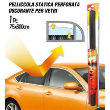 PELLICOLA STATICA VETRI AUTO OSCURANTE PERFORATA 300x76 cm NERA LOGICA