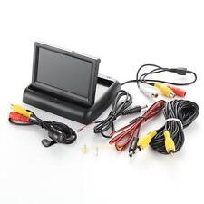 "4.3"" Foldable TFT LCD Monitor+Car Rear View System Vehicle Backup Reverse Camera"