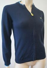 ARMANI JUNIOR Boy's Midnight Navy Blue Cotton Zip Front Knitwear Cardigan Top 12
