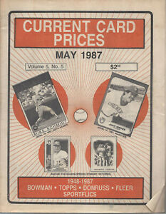 Current Card Prices May 1987 Mike Schmidt Juan Nieves George Bamberger