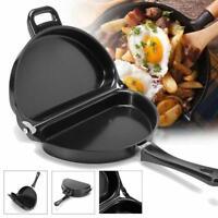 Non-Stick Folding Omelet Fry Pan Maker Frying Breakfast Egg Skillet 28.5*24CM