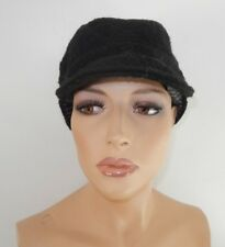 $34 August Hat Co. Bias Mod Cap (Black Wool Blend Newboy Cap)