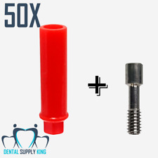 X 50 Dental Plastic Castable Implant Abutment with Hex Screws Included