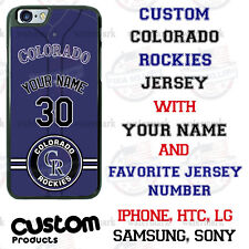 Colorado Rockies Personalize Baseball Jersey Phone Case Cover for iPhone etc.